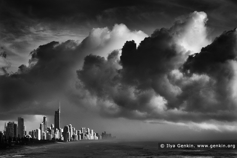 Photograph Storm Over Surfer's Paradise by Ilya Genkin on 500px