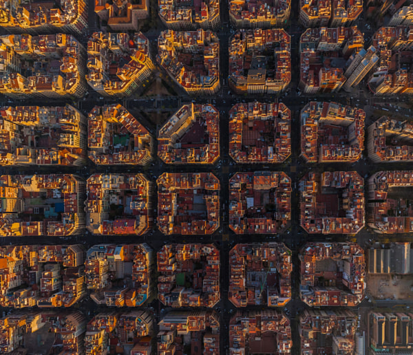 Photograph Cells of Barcelona, Spain by AirPano on 500px