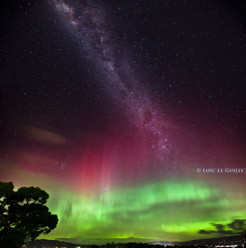 Photograph Aurora australis and Milky Way by Loic Le Guilly on 500px