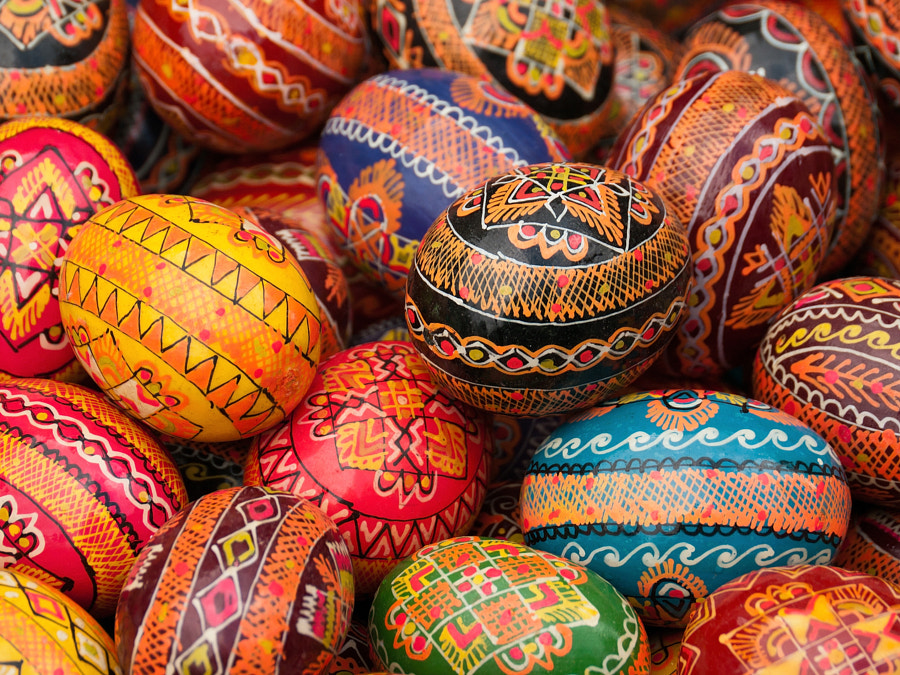 Photograph Hand Painted Colourful Easter Eggs by Aleksey_Kotikov on 500px
