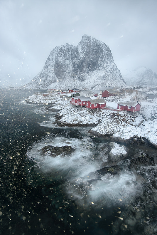 Hamnøy in Snow by Arild Heitmann on 500px.com