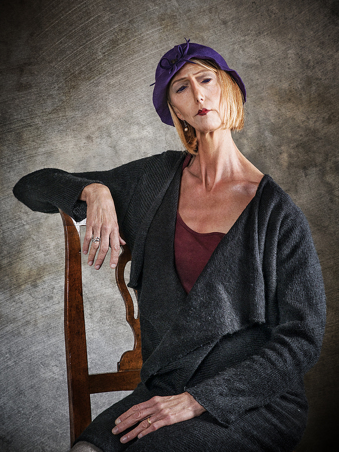 Woman with Purple Hat