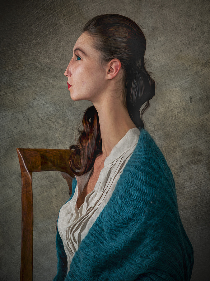 Profile of Woman in Emerald