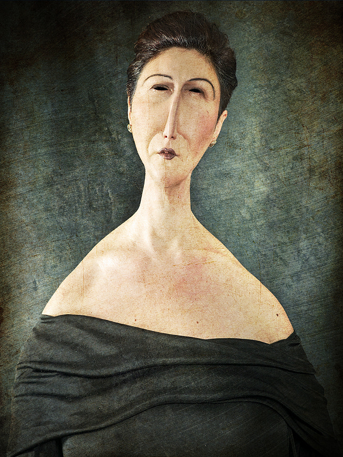 Portrait of Woman with Short Hair
