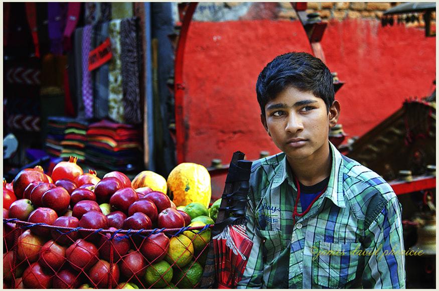 Nepal Series:  Apple Vendor