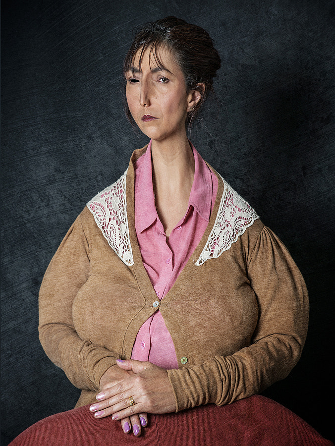 Portrait of Woman in Pink Blouse