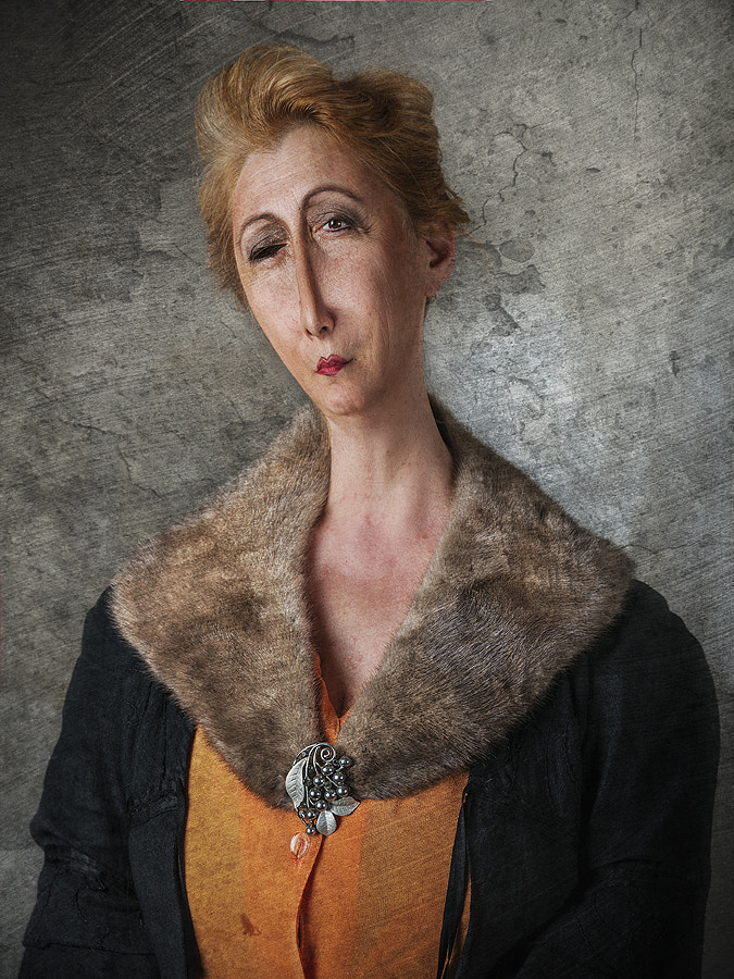 Lady with Fur Coat