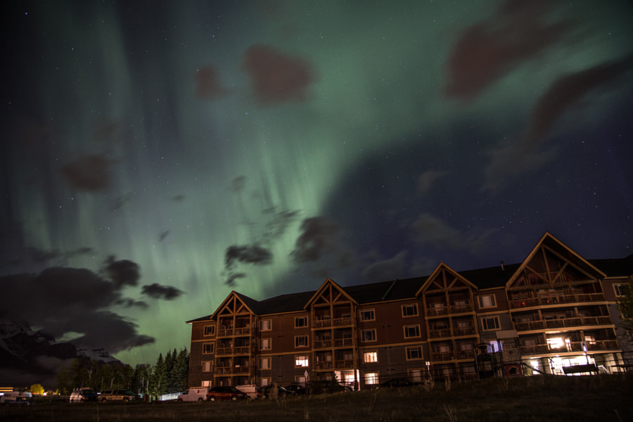 Aurora over Canmore by John Entwistle on 500px.com