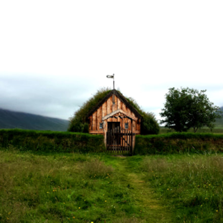 Turf church in Iceland