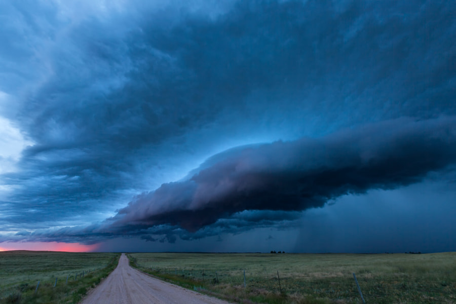 Photograph After Sunset Supercell by Kelly DeLay on 500px
