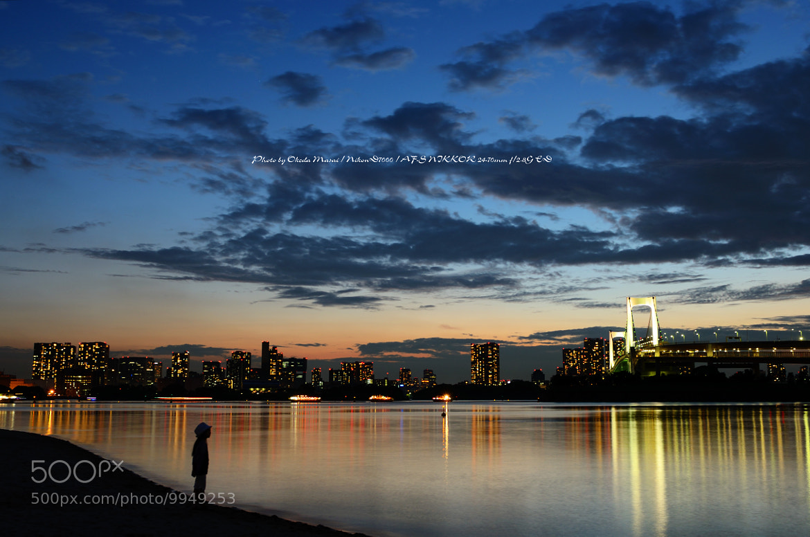 Photograph Silhouette photograph of Tokyo Odaiba(My daughter) by okera japan on 500px