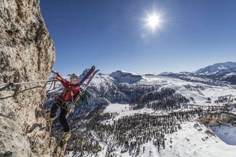 Photograph A Winter ascent of Via Ferrata degli Alpini by James Rushforth on 500px