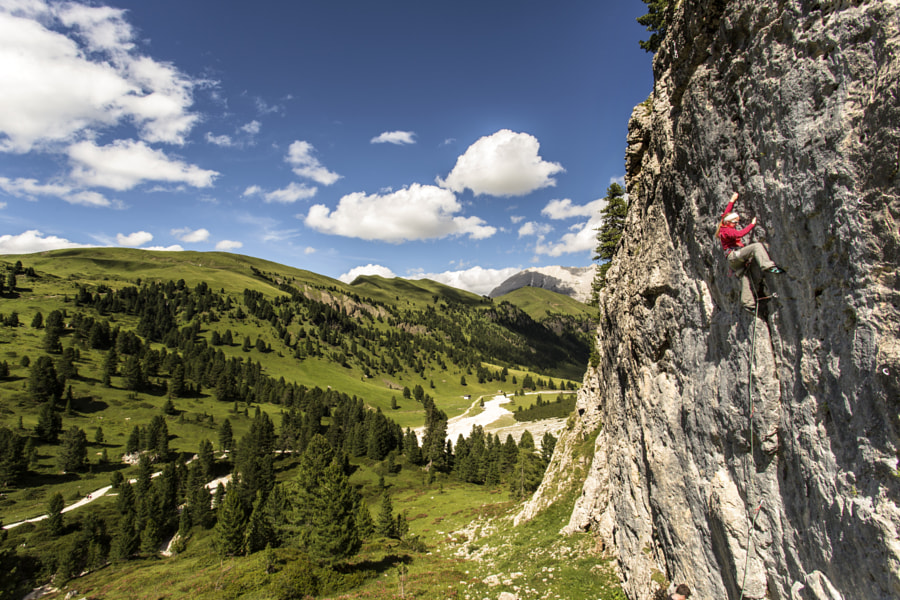 Photograph Climbing in the Val Duron by James Rushforth on 500px