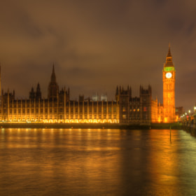 Постер, плакат: Houses of Parliament, холст на подрамнике