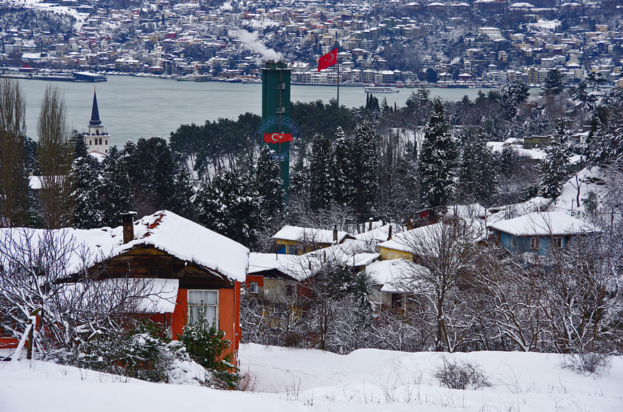 Photograph Snow Landscape  in Bosphorus Istanbul by Mehmet Çoban on 500px