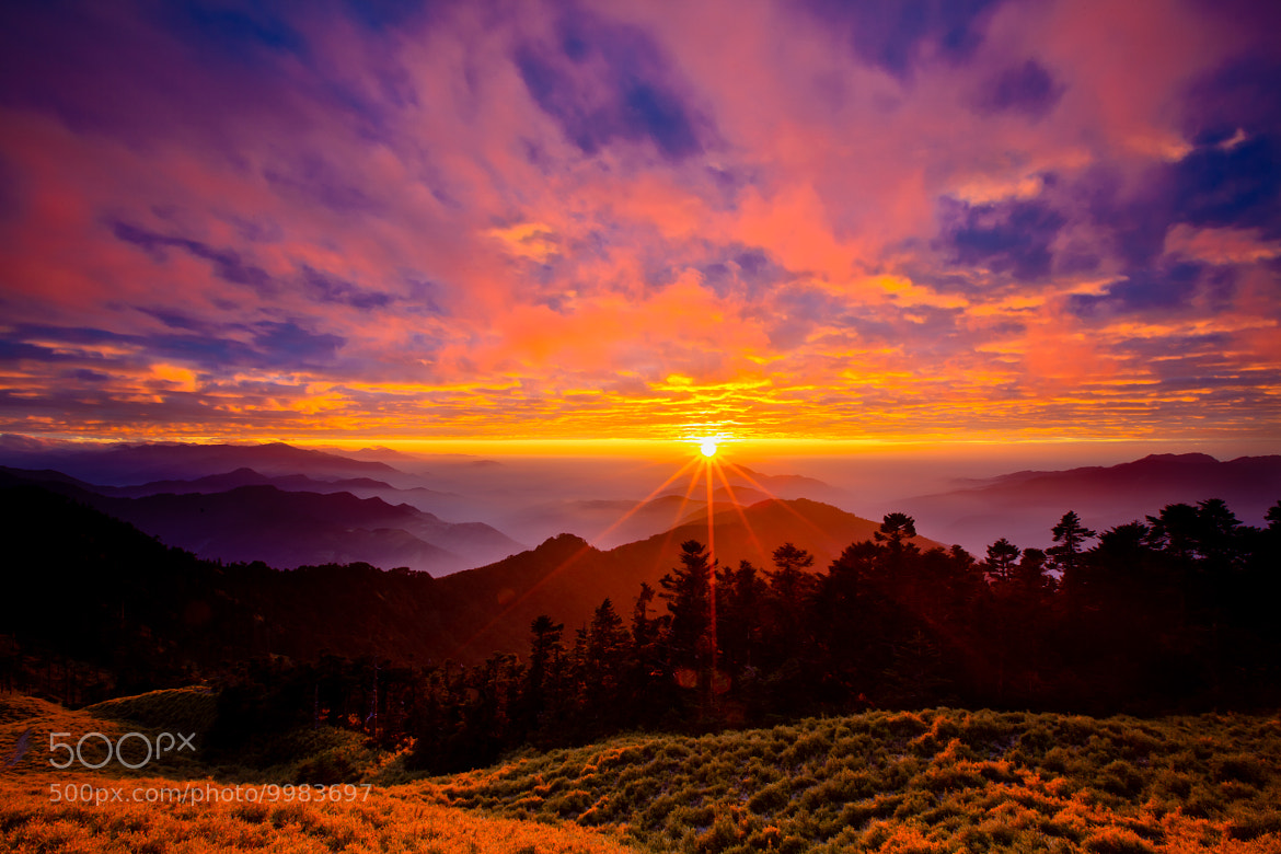 Photograph Sunset @ Hehuan Mountain by Justin Yeh on 500px