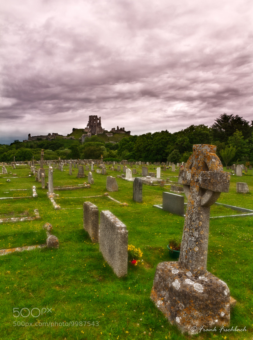Photograph Corfe Castle with cemetery, Dorset, England by Frank Fischbach on 500px