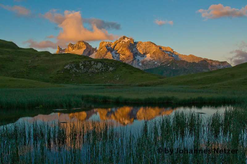 Photograph Sunrinse at the Alps of Montafon by Johannes Netzer on 500px